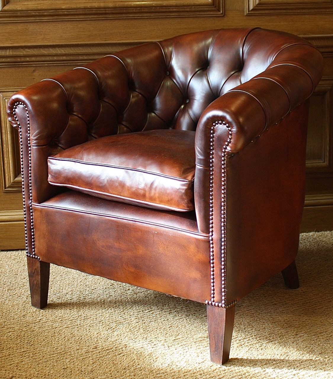 Buttoned Back Leather Amsterdam Chair Leather Chairs Of