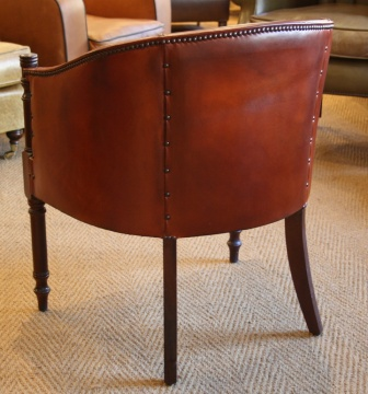 Leather Davenport Chair