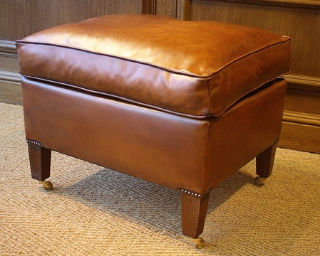 Mock Cushion Leather Stool