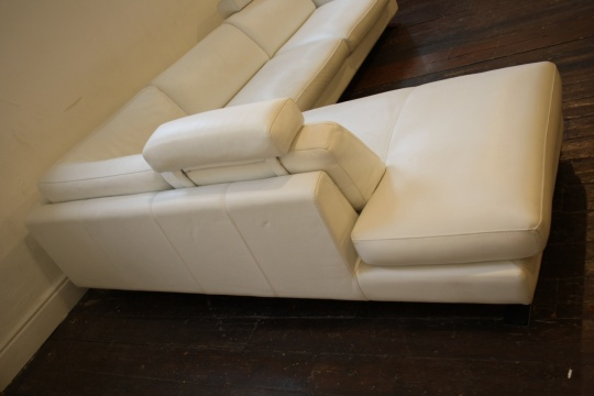 Roche Bobois Leather Corner Sofa