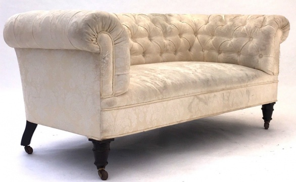 19th Century Chesterfield Reupholstery Project