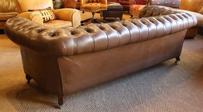 Vintage Leather Chesterfield