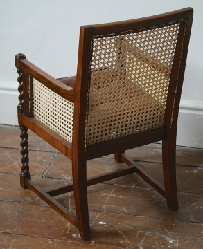 Childs's Bergere Chair with Leather Cushion