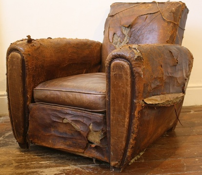 French Leather Club Chair