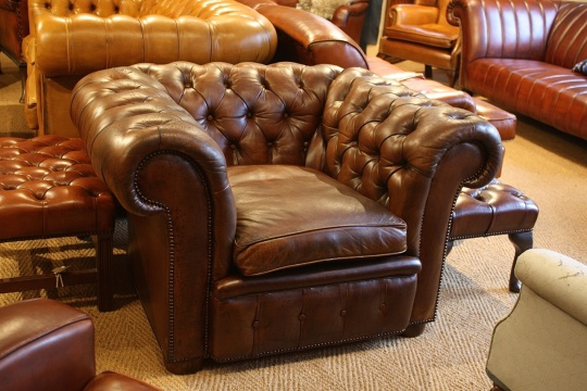 Vintage Leather Chesterfield Club Chair