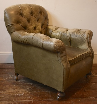 Late Victorian Buttoned Back and Arms Chair