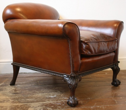 Handsome Claw & Ball Antique Armchair