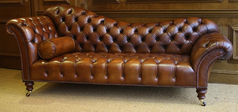 Leather Chairs of Bath Leather Sofa/Chaise Longue