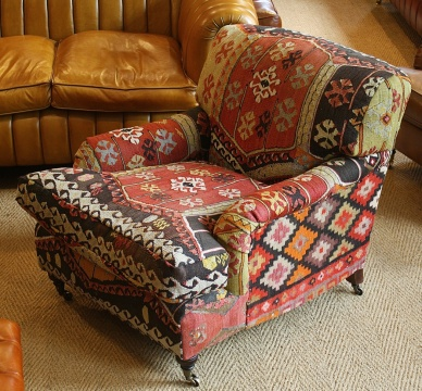 Turkish Kilim Lansdown Chair