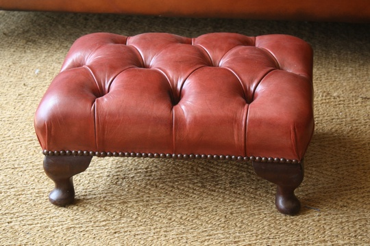 Tuckunder Leather Stool