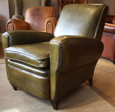 Late 1930's French Leather Chair