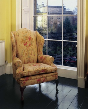 The Queen Anne Wing Chair in Fabric