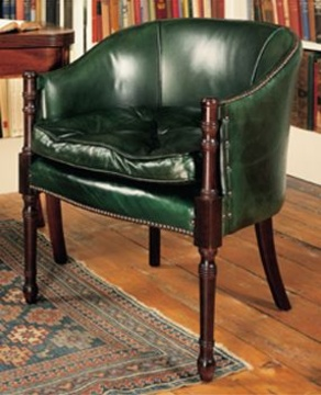 Davenport Desk Chair in Leather