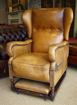 J Foot & Son Leather Reclining Adjustable Chair