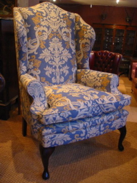 ... The Queen Anne Wing Chair in Fabric ... & Leather Chairs of Bath Chelsea Design Quarter Queen Anne Wing Chair ...