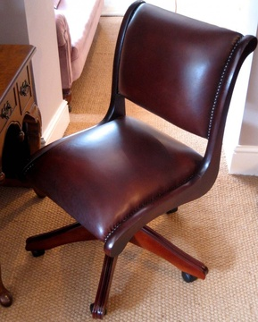 Typist's Desk Chair in Leather