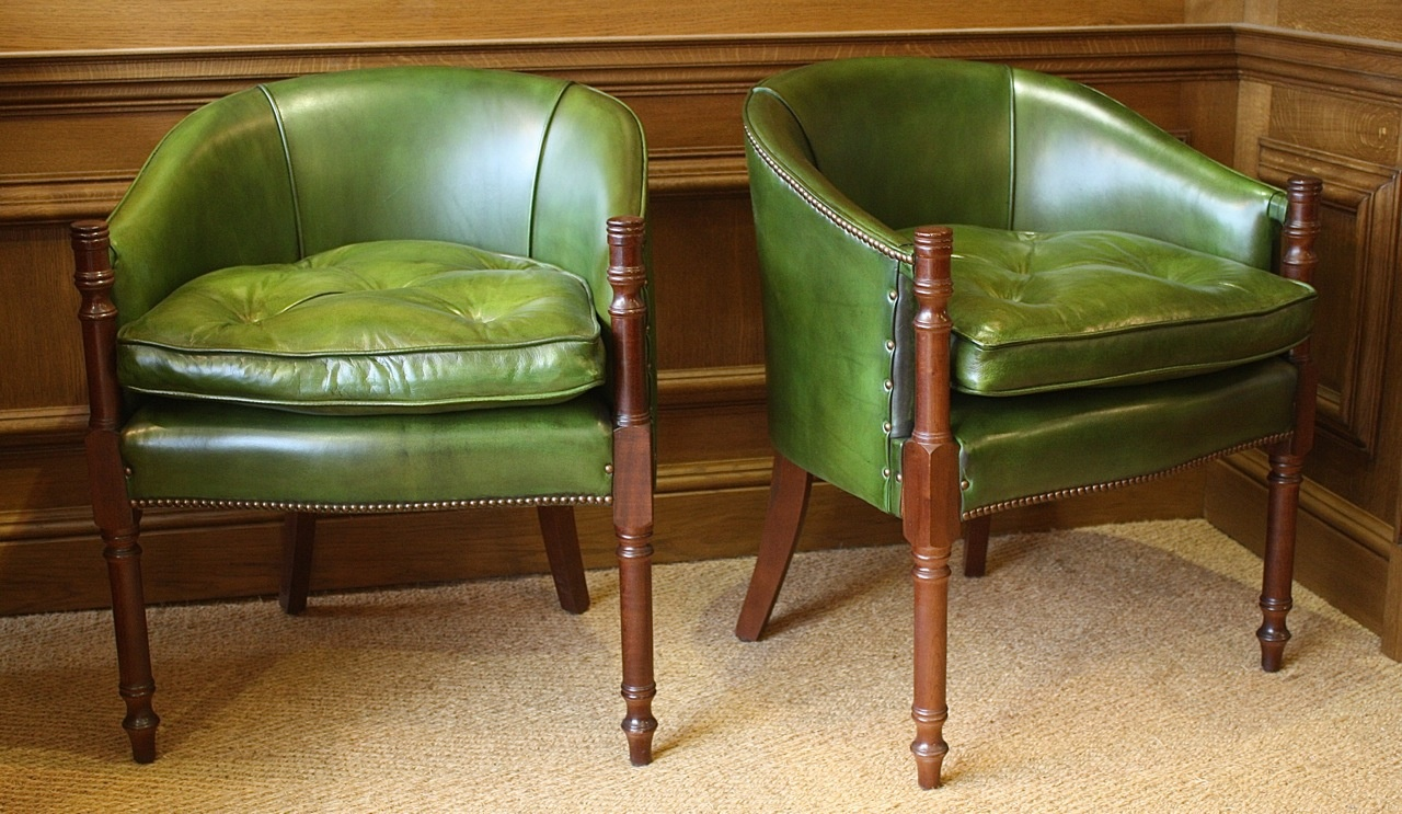 ... Davenport Desk Chair In Leather