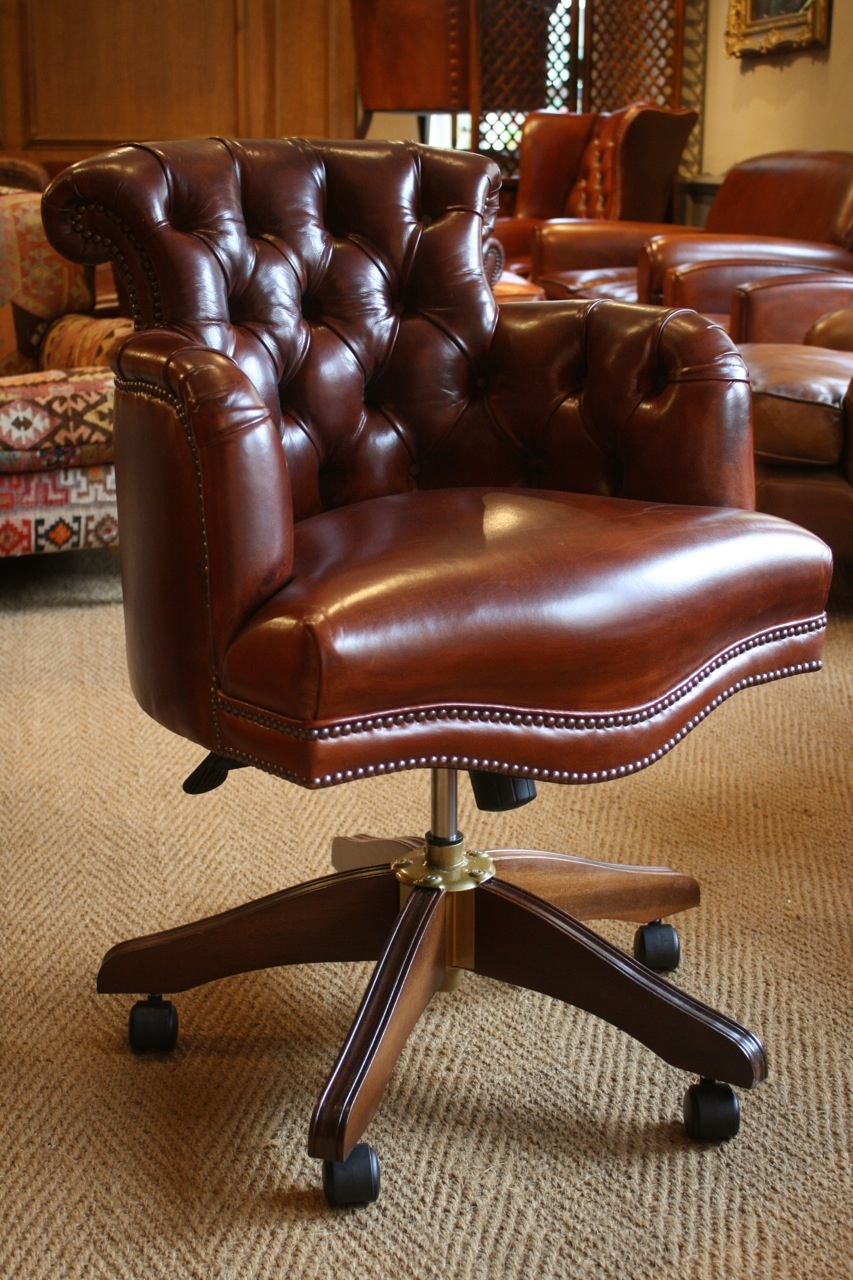 Terrific Leather Captains Chair Leather Desk Chair Antique Leather Uwap Interior Chair Design Uwaporg