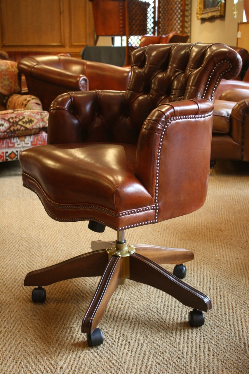 Stupendous Leather Captains Chair Leather Desk Chair Antique Leather Uwap Interior Chair Design Uwaporg