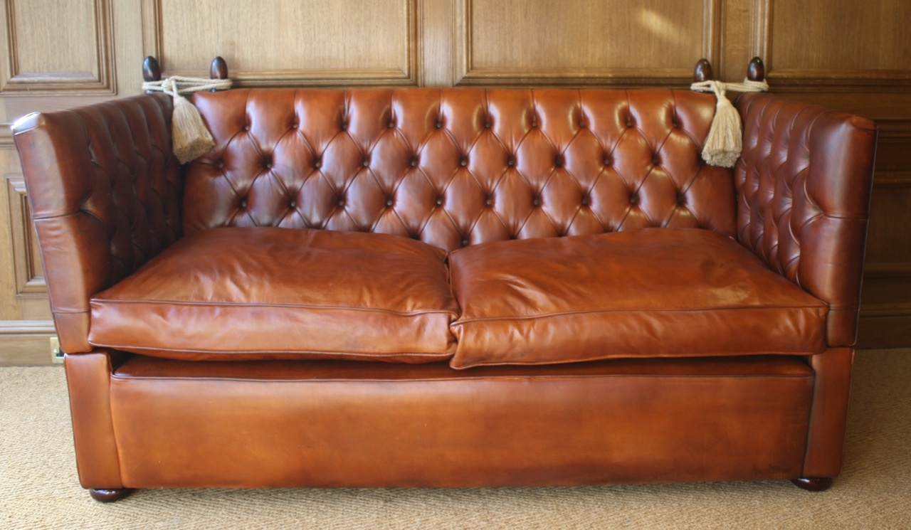 Buttoned Leather Knole Sofa Leather Chairs Of Bath Antique And Reproduction Leather Chairs