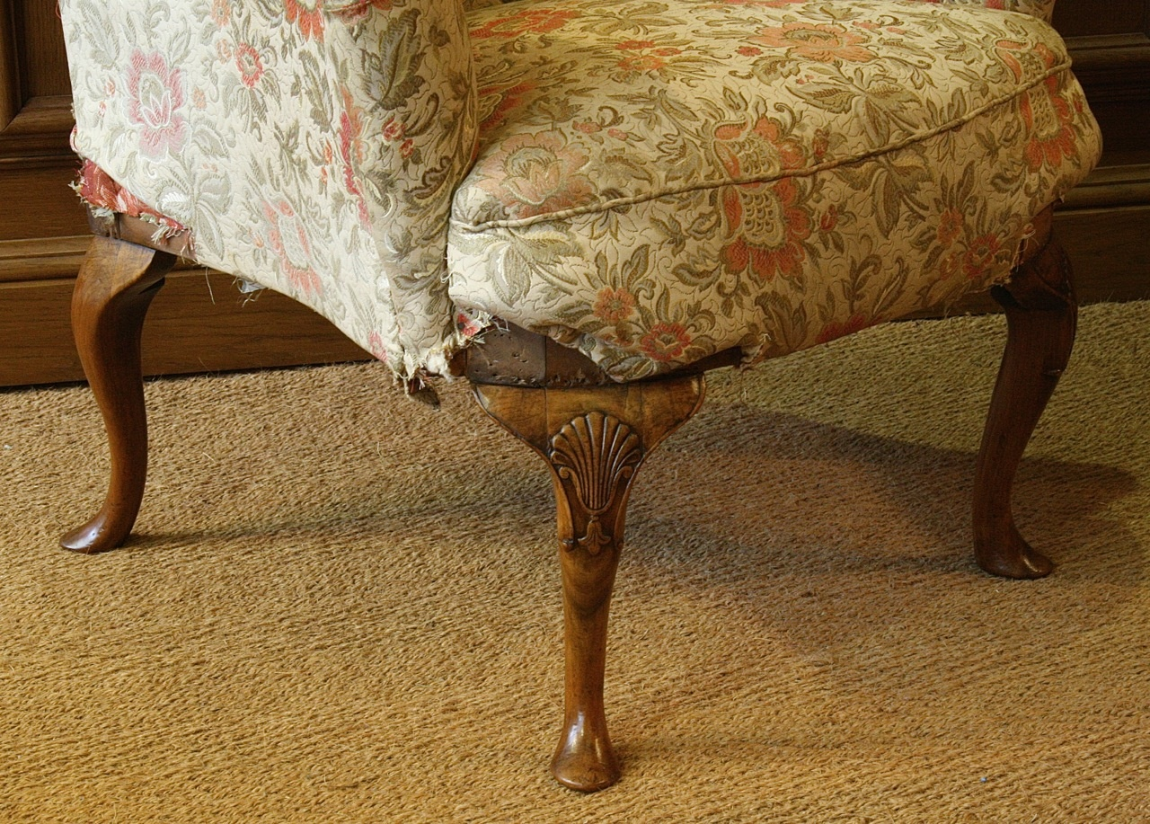 Antique wing chair - Walnut Wing Chair