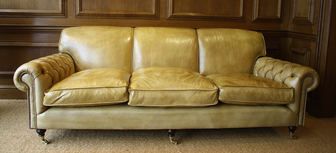 Leather Chairs Of Bath Chelsea Design Quarter Full Scroll Buttoned Arm Lansdown Sofa Leather