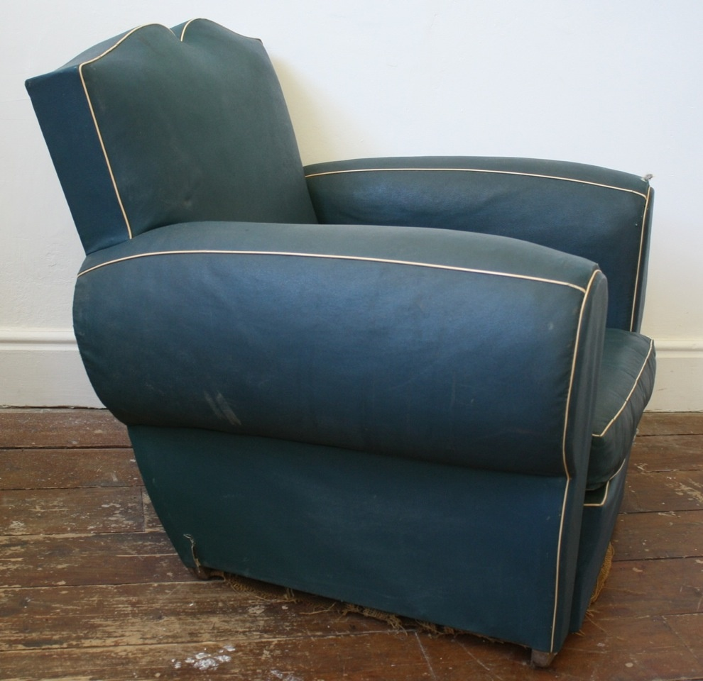 Blue French Moustache Chair ...