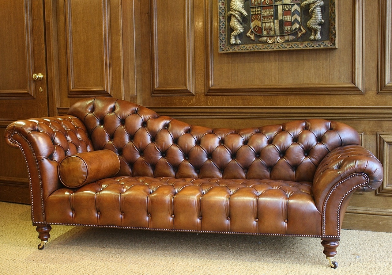 Leather Chairs of Bath Leather Sofa/Chaise Longue | Leather Chairs ...