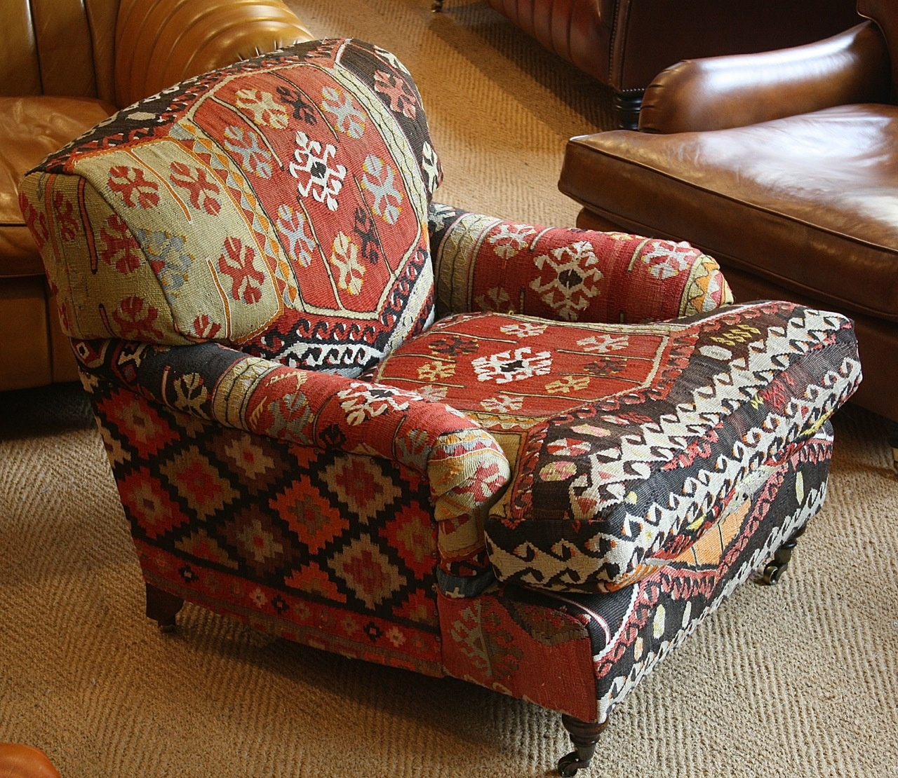 Turkish Kilim Lansdown Chair Kelim Rug Chair Turkish Rug