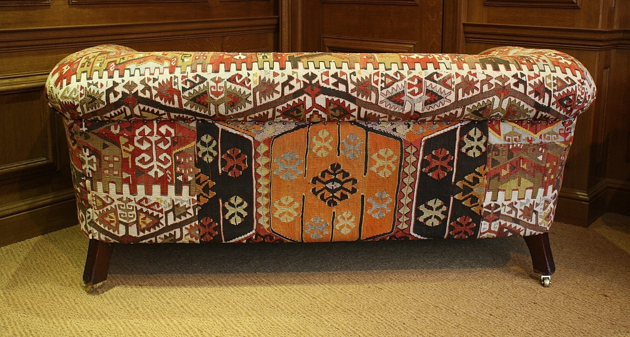 Kilim Upholstered Antique Chesterfield ...