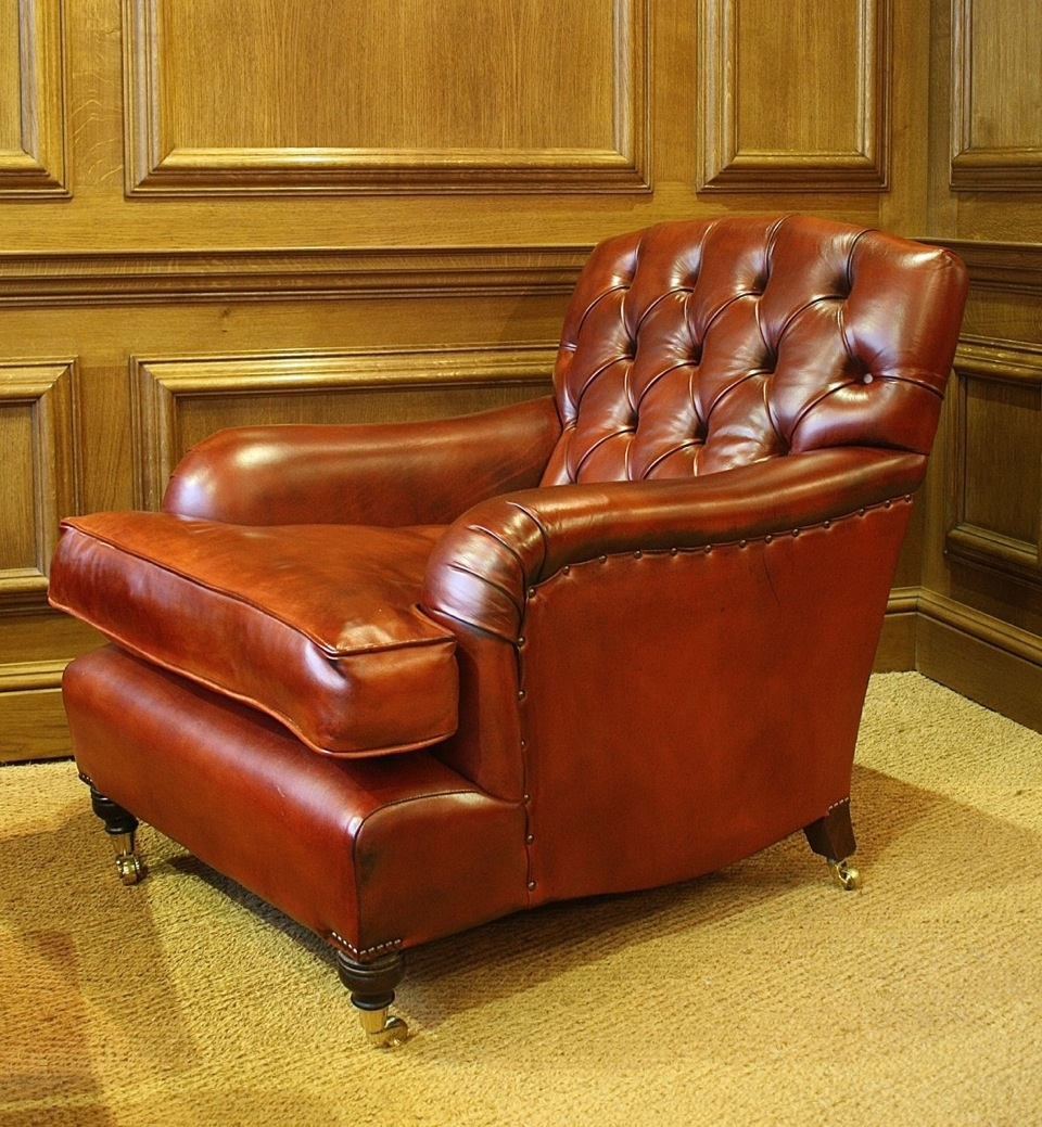 ... Oxford Study Chair In Leather ...