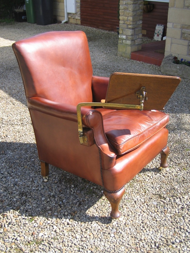 Reading Chair - 19th Cent. Reading Chair Leather Chairs Of Bath Antique And