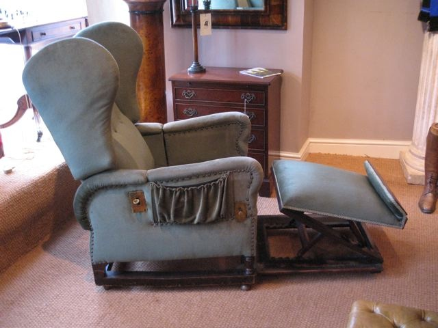 J Foot Amp Son Edwardian Reclining Chair Leather Chairs Of