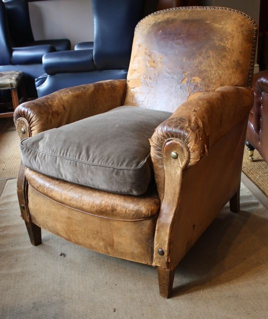 1930 S Leather French Club Chair Leather Chairs Of Bath