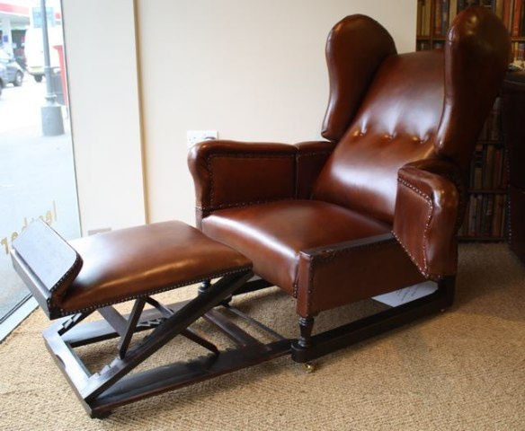 J Foot & Son Reclining Chair ... - J Foot & Son Reclining Chair Leather Chairs Of Bath Antique And