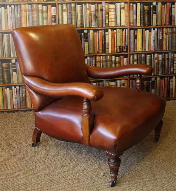 Edwardian Leather Library Chair Leather Club Chair Leather