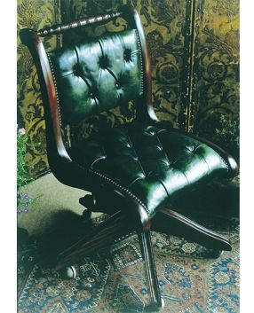 Leather Desk Chair Leather Typist S Desk Chair Leather