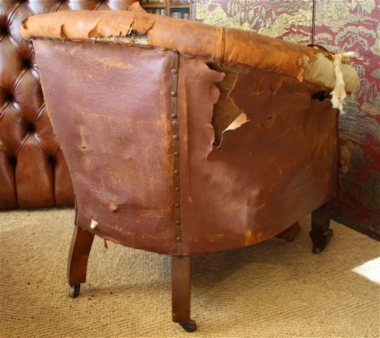 ... Leather Tub Chair. prev next - Arts & Crafts Antique Leather Tub Chair Leather Chairs Of Bath