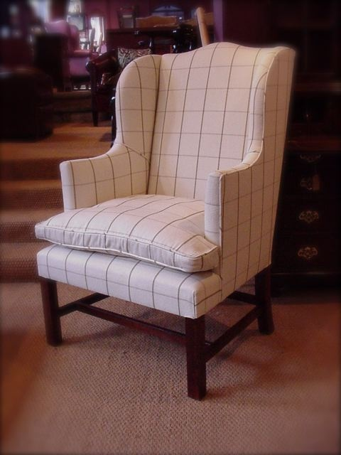 Leather Chairs Of Bath Chapman Wing Chair In Fabric