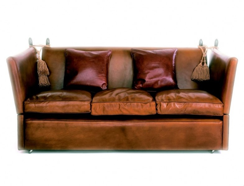 Leather Knole Sofa Leather Knole Settee Leather Knoll