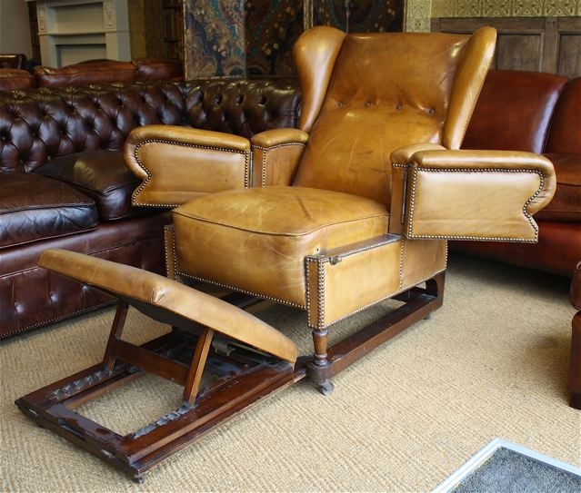 J Foot Amp Son Reclining Adjustable Leather Chair Leather