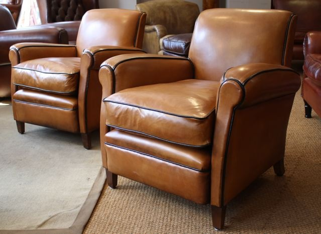 Genial French Leather Club Chairs; French Leather Club Chairs ...