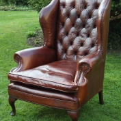 Vintage Queen Anne Wing Chair