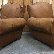 Pair of 1930s/40s French 'Moustache' Chairs