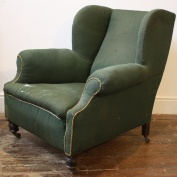 Winged Victorian Club Chair