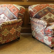 Turkish Kilim Pair of Lansdown Chairs