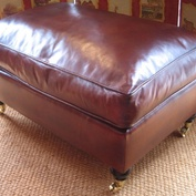 Lansdown Stool in Leather