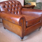 The Buttoned Lansdown Chair in Leather