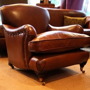 Petit Leather Club Chair