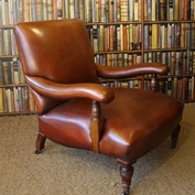 Elegant Edwardian Library Chair
